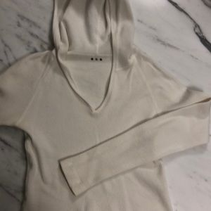 Women's thermal like cotton hoody